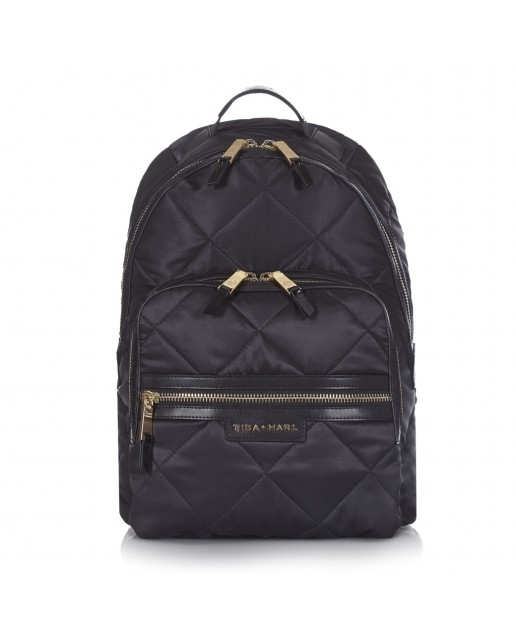 BLACK ELWOOD QUILTED BACKPACK CHANGING BAG