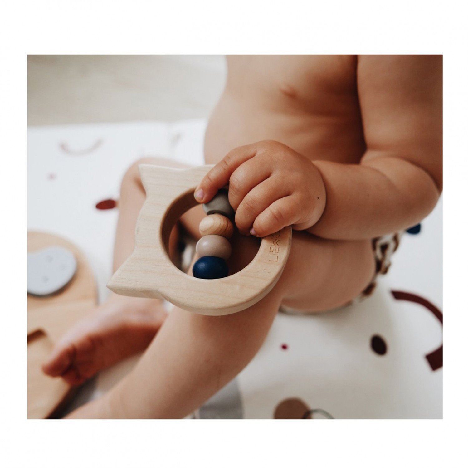 Wood Teether | Cat Natural