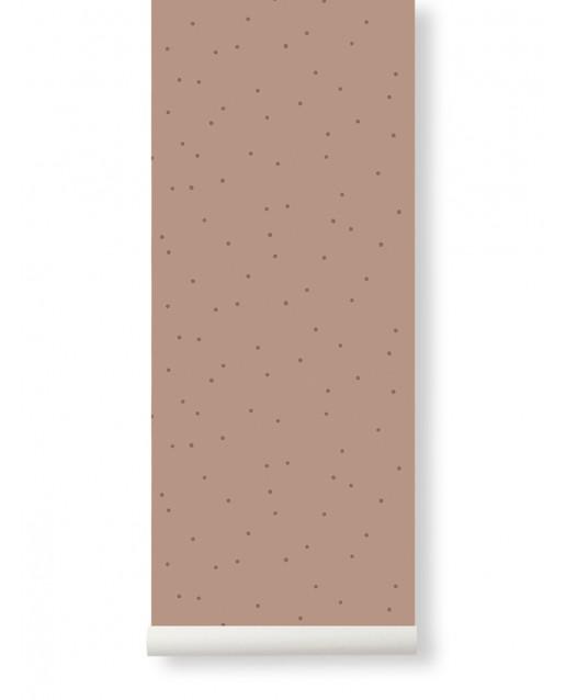 Dot Wallpaper Dusty Rose