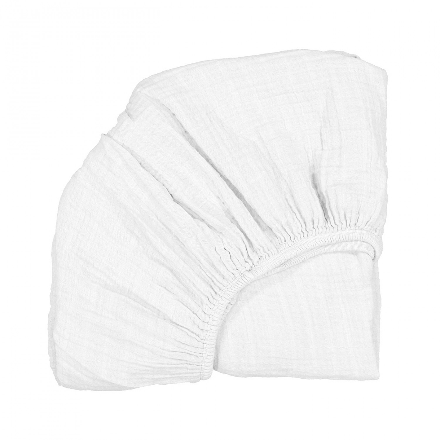 Fitted Sheet for Kumi Cradle White CHARLIE CRANE