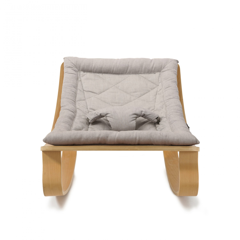 Baby Rocker LEVO with Sweet Grey cushion CHARLIE CRANE