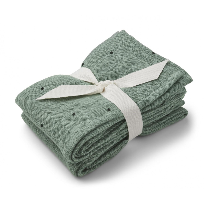 Lewis muslin cloth 2-pack | Classic dot peppermint