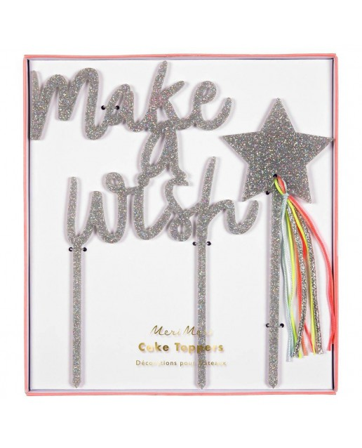Make A Wish Acrylic Toppers (set of 2)