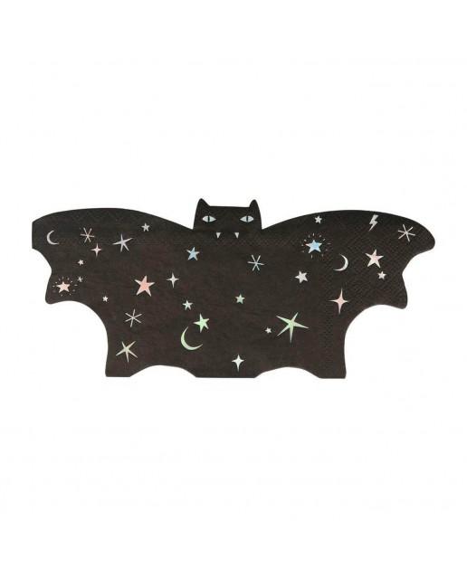 Sparkle Bat Napkins (Set Of 16)