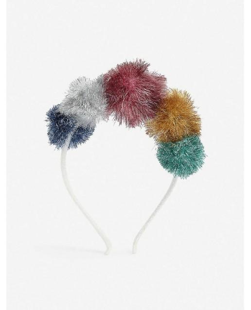 Tinsel Pompom Headband