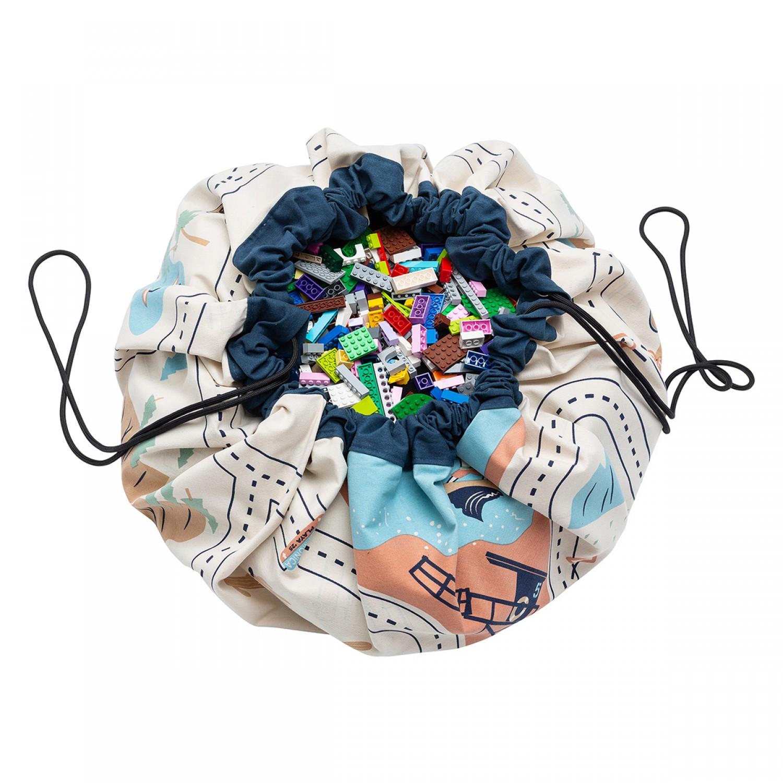L.A. roadmap toy storage bag