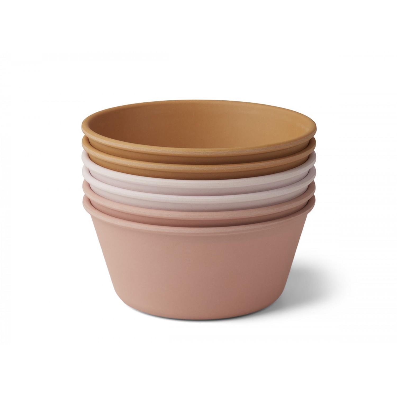 Greta Bamboo bowl - 6 pack | Rose Multi Mix