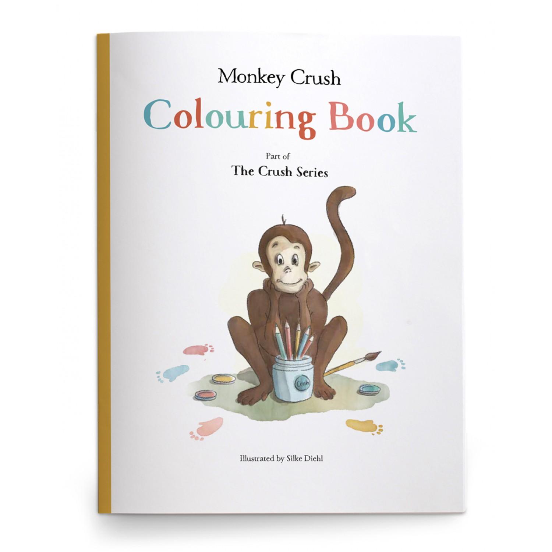 Monkey Crush Colouring Book