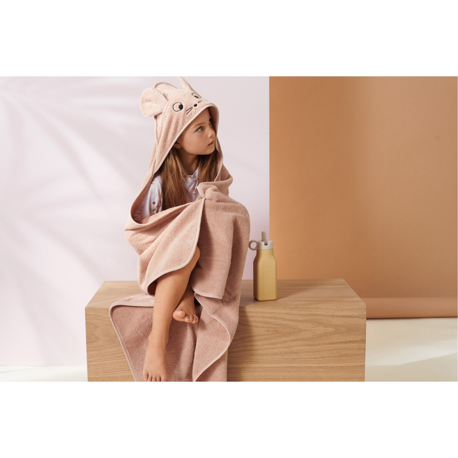 Augusta Hooded Junior Towel | Mouse pale tuscany
