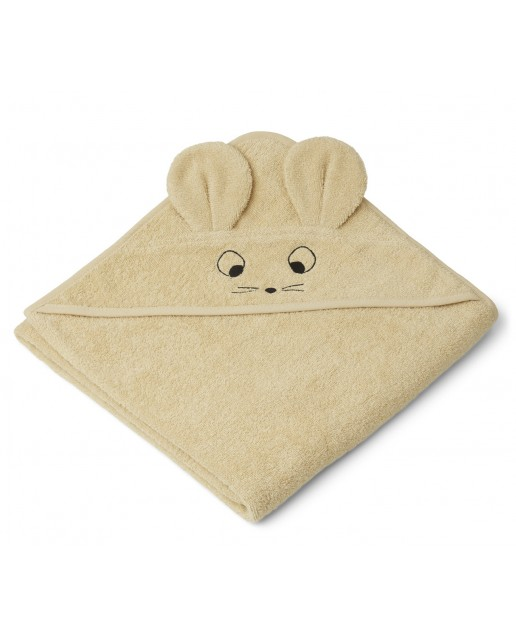Augusta Hooded Junior Towel | Mouse wheat yellow