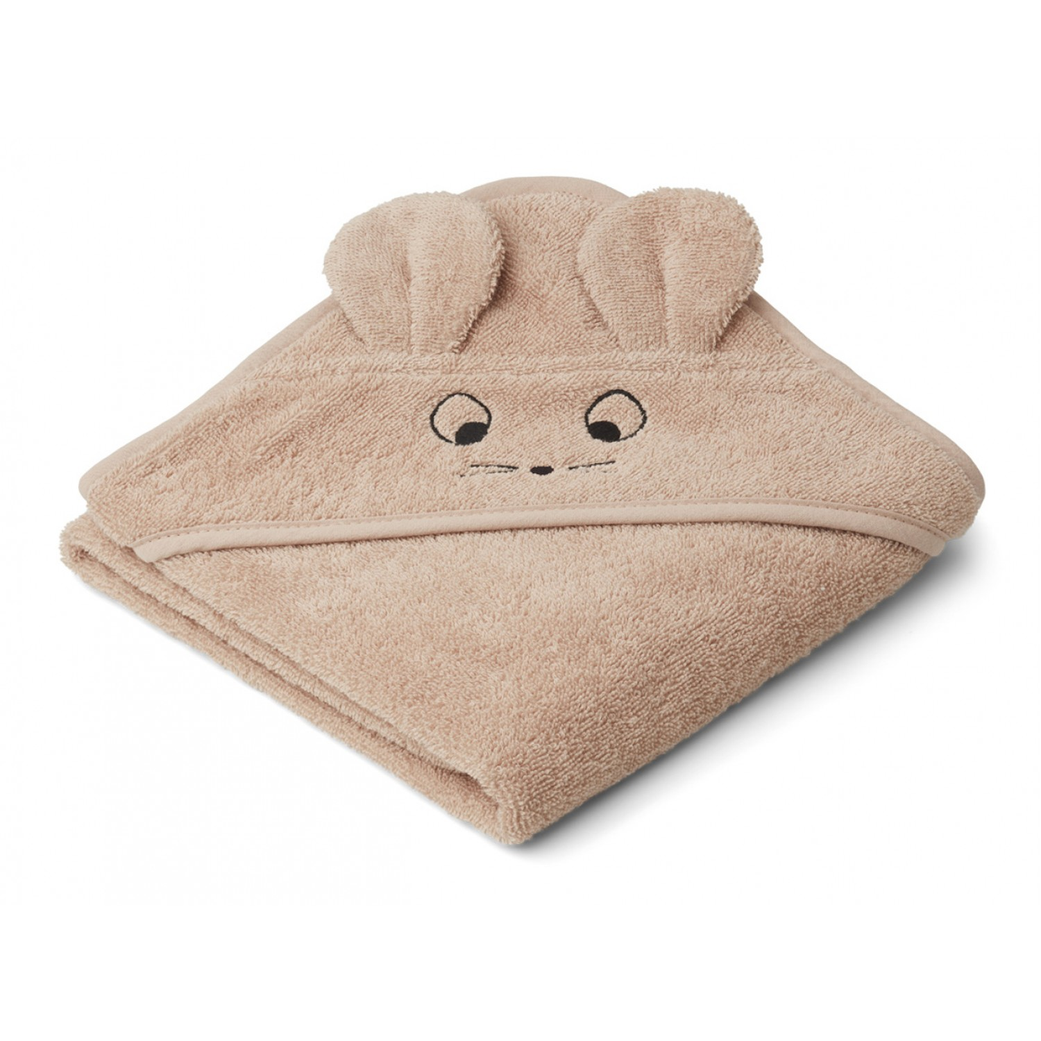 Albert Hooded Baby Towel   Mouse pale tuscany