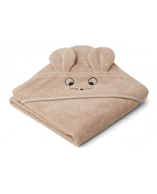 Albert Hooded Baby Towel | Mouse pale tuscany