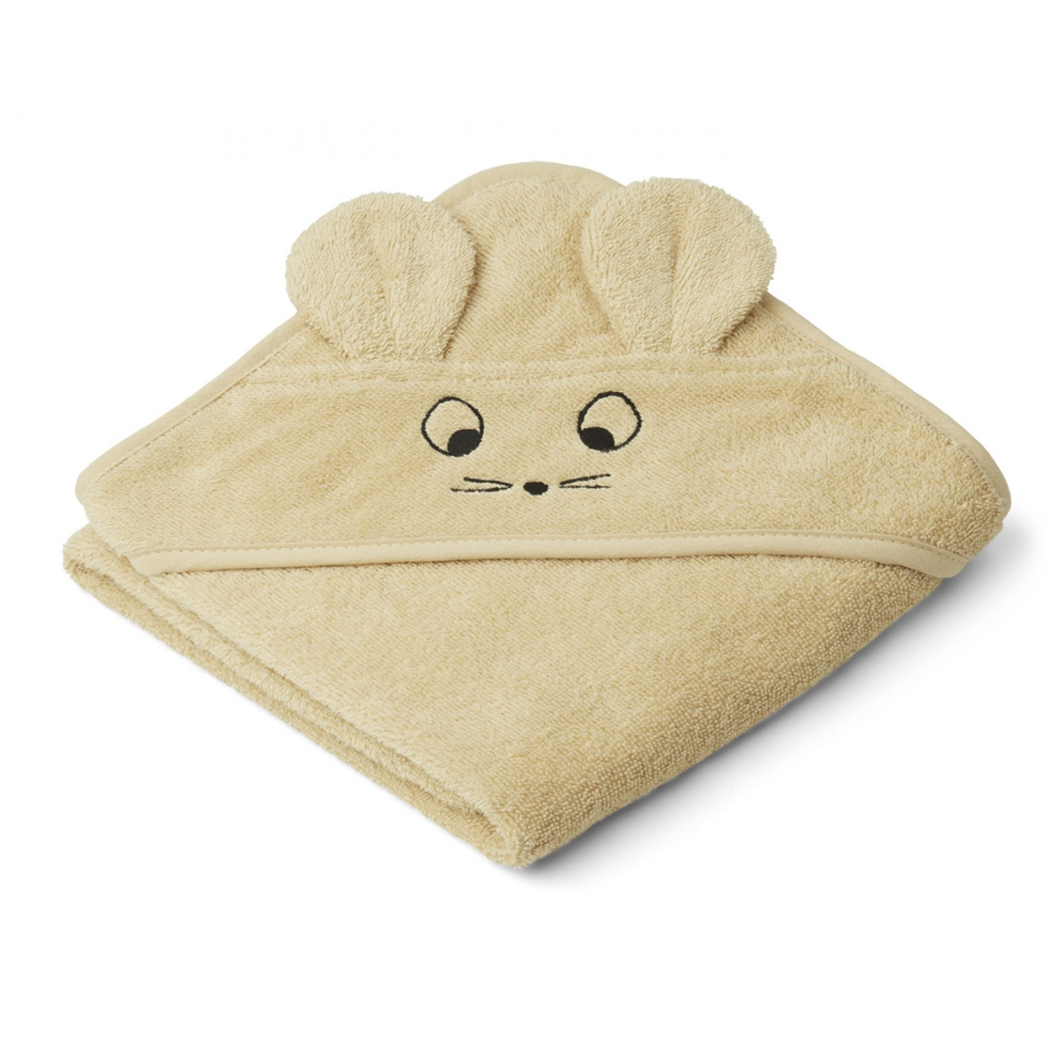 Albert Hooded Baby Towel | Mouse wheat yellow