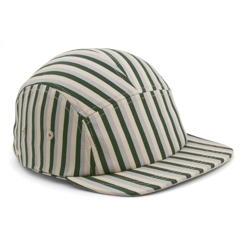 Rory Cap   Stripe: Garden green/sandy/dove blue