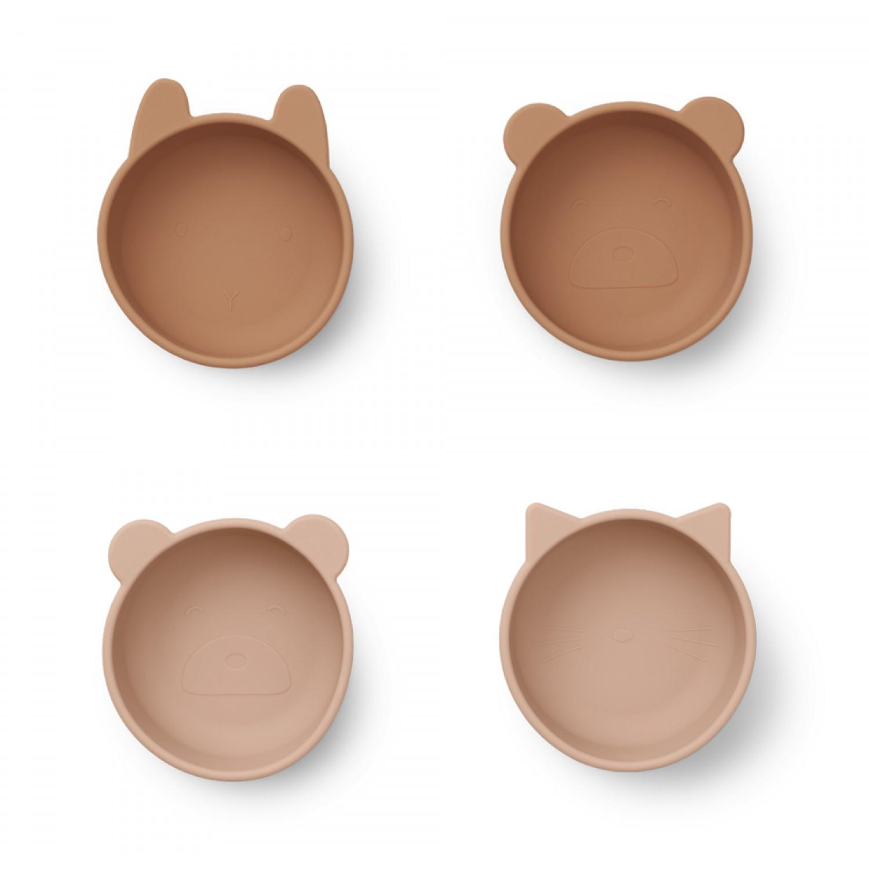 IGGI Silicone Bowls - 4 Pack | Tuscany Rose Mix