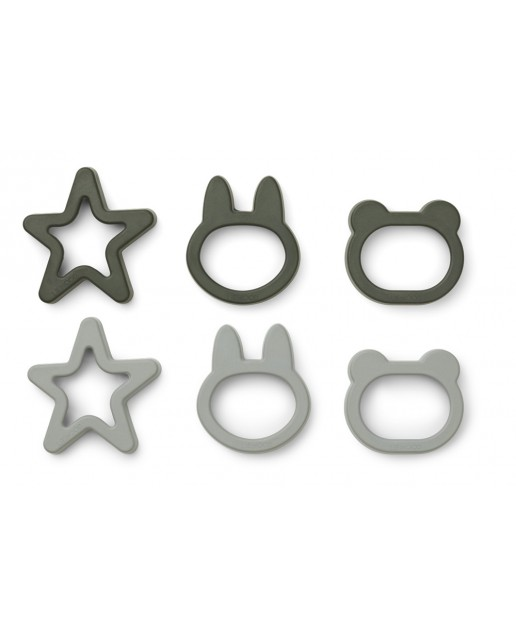 Andy Cookie Cutter - 6 pack |  Hunter Green Mix