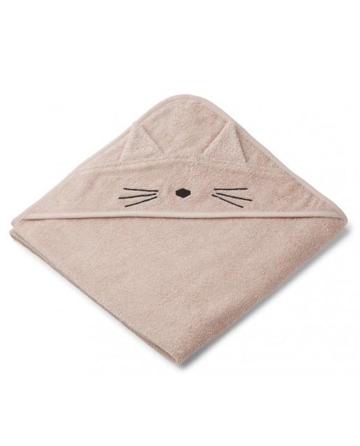 AUGUSTA HOODED TOWEL | CAT ROSE