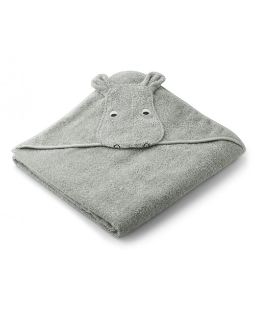 AUGUSTA HOODED TOWEL | HIPPO DOVE BLUE