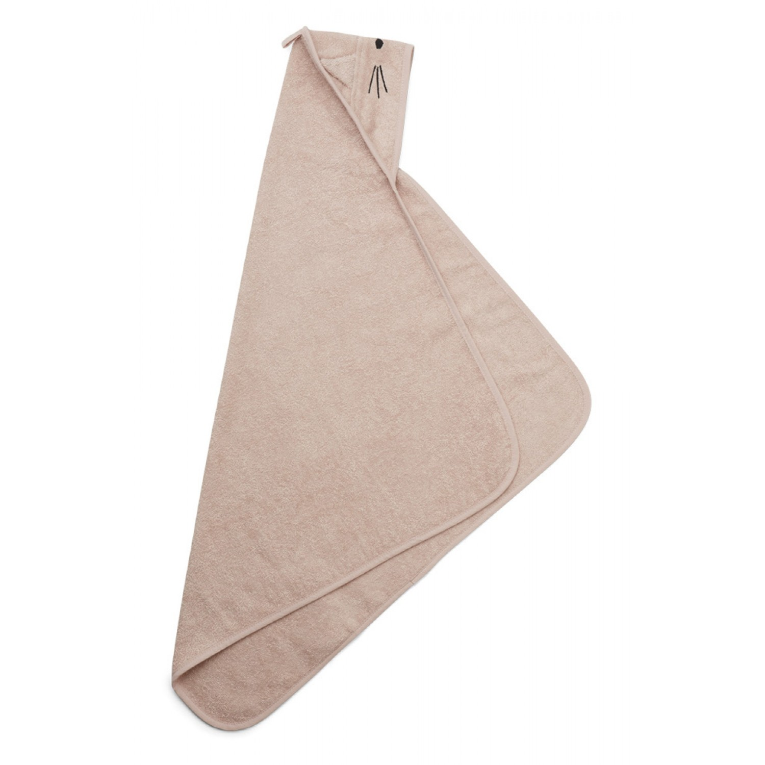 ALBERT HOODED TOWEL | CAT ROSE