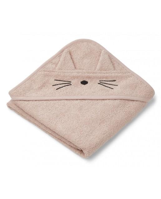 ALBERT HOODED TOWEL | CAT ROSE