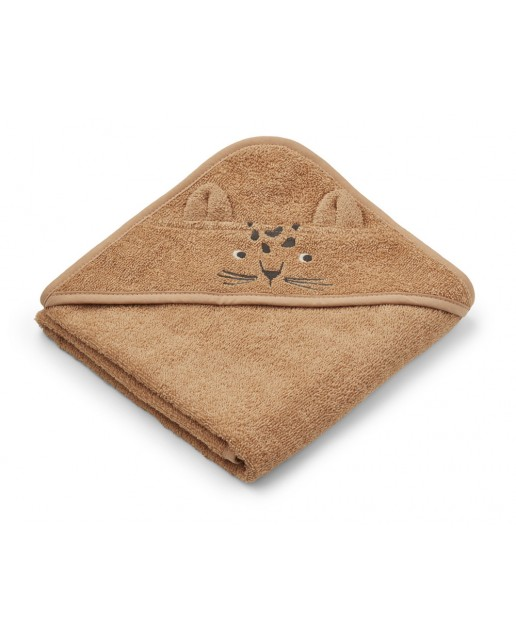 ALBERT HOODED TOWEL  Safari Collection | LEOPARD APRICOT