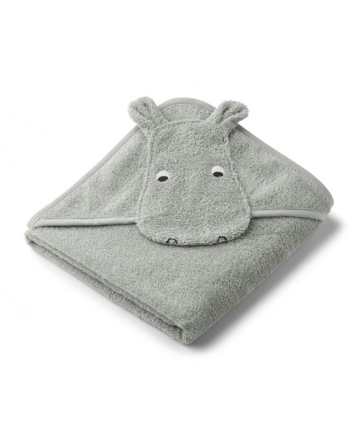 ALBERT HOODED TOWEL Safari Collection | HIPPO DOVE BLUE