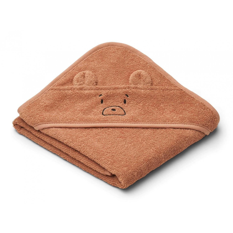 Albert hooded towel | Mr bear tuscany rose