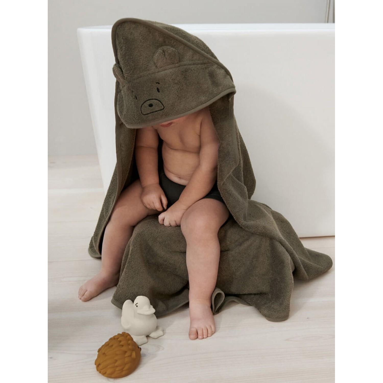 Albert hooded towel   Rabbit oat