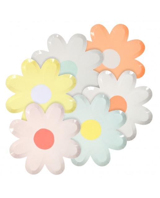 Pastel Daisy Canape Plates