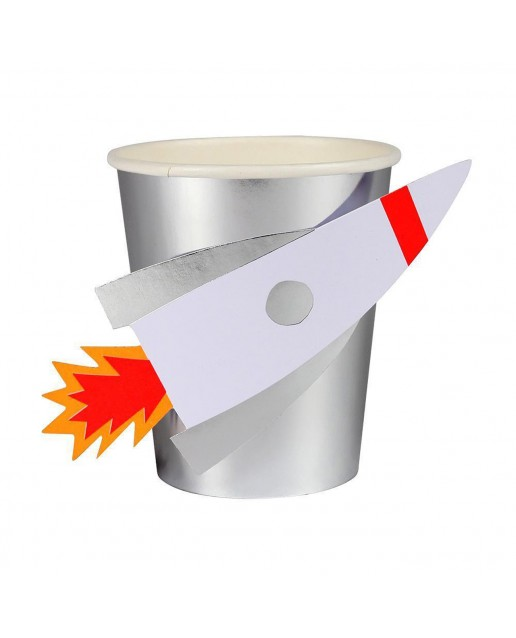 To The Moon Rocket Party Cups