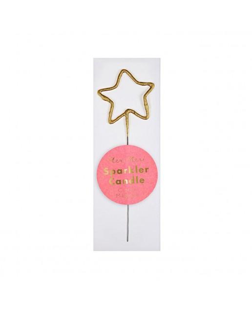 Mini Silver Sparkler Star Candle