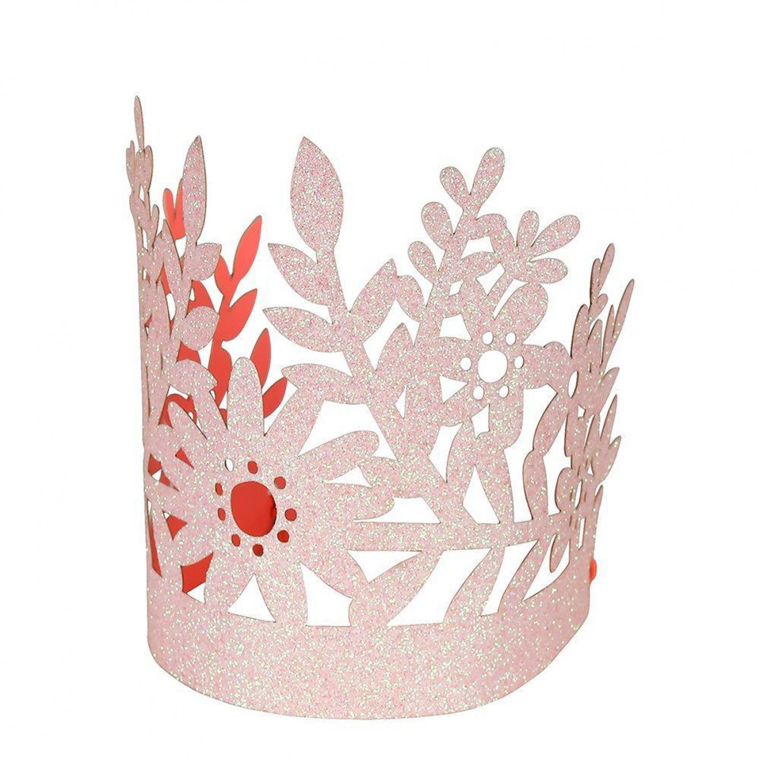 Pink Glitter Party Crowns