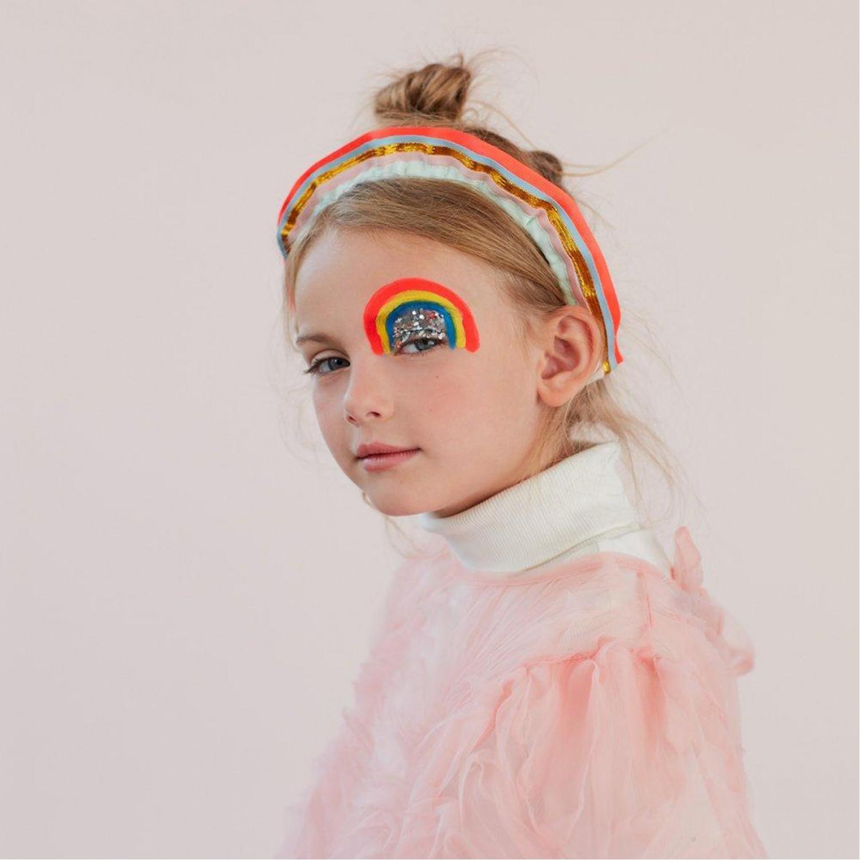 Rainbow Ruffle Headband