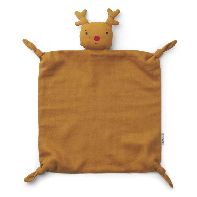 Agnete cuddle Cloth |  Reindeer Mustard