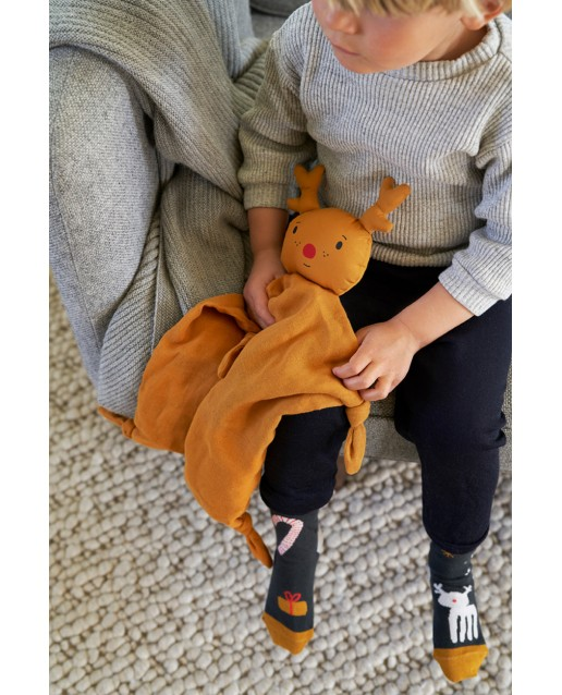 Agnete cuddle Cloth |  Reindeer Mustard