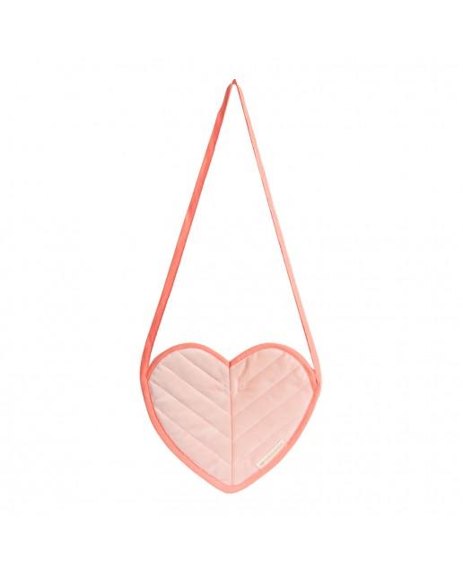 Love velvet mini bag | Bloom Pink