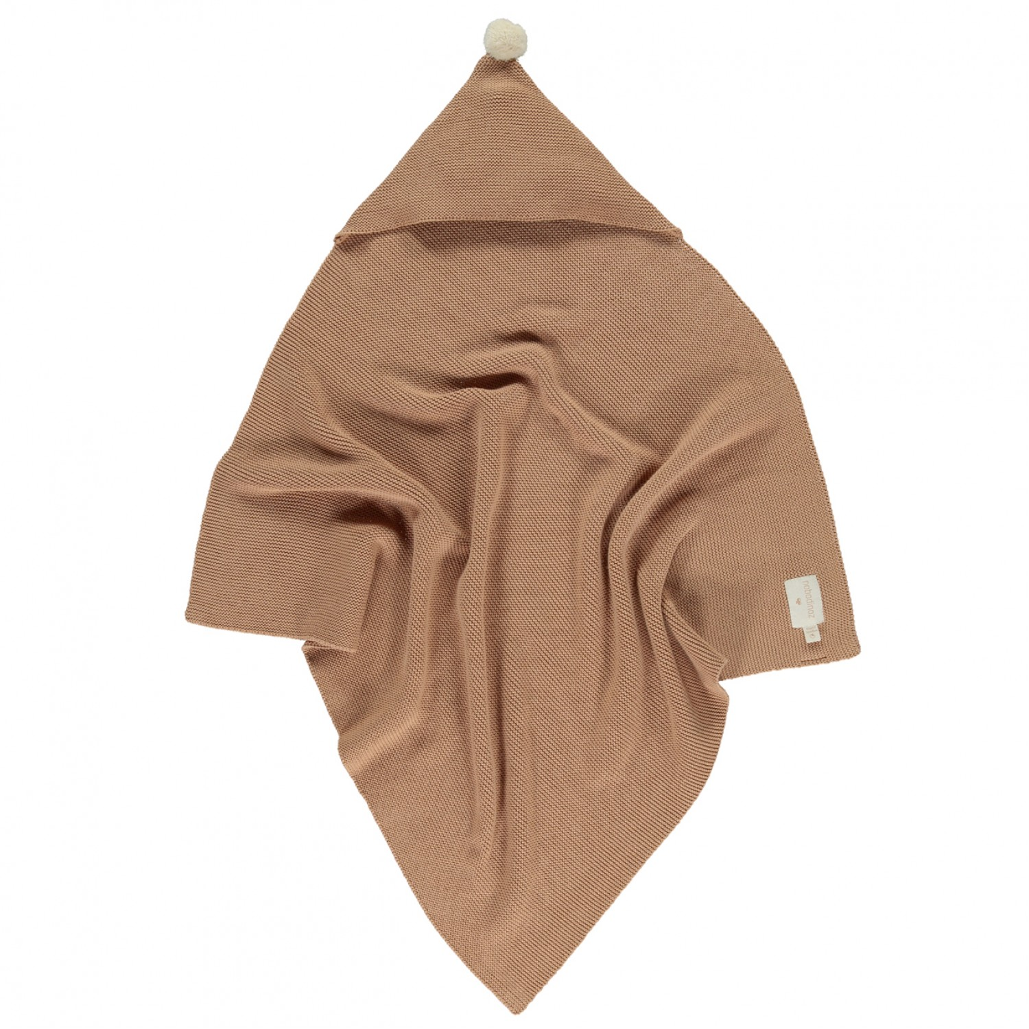 So Natural knitted baby cape • Biscuit