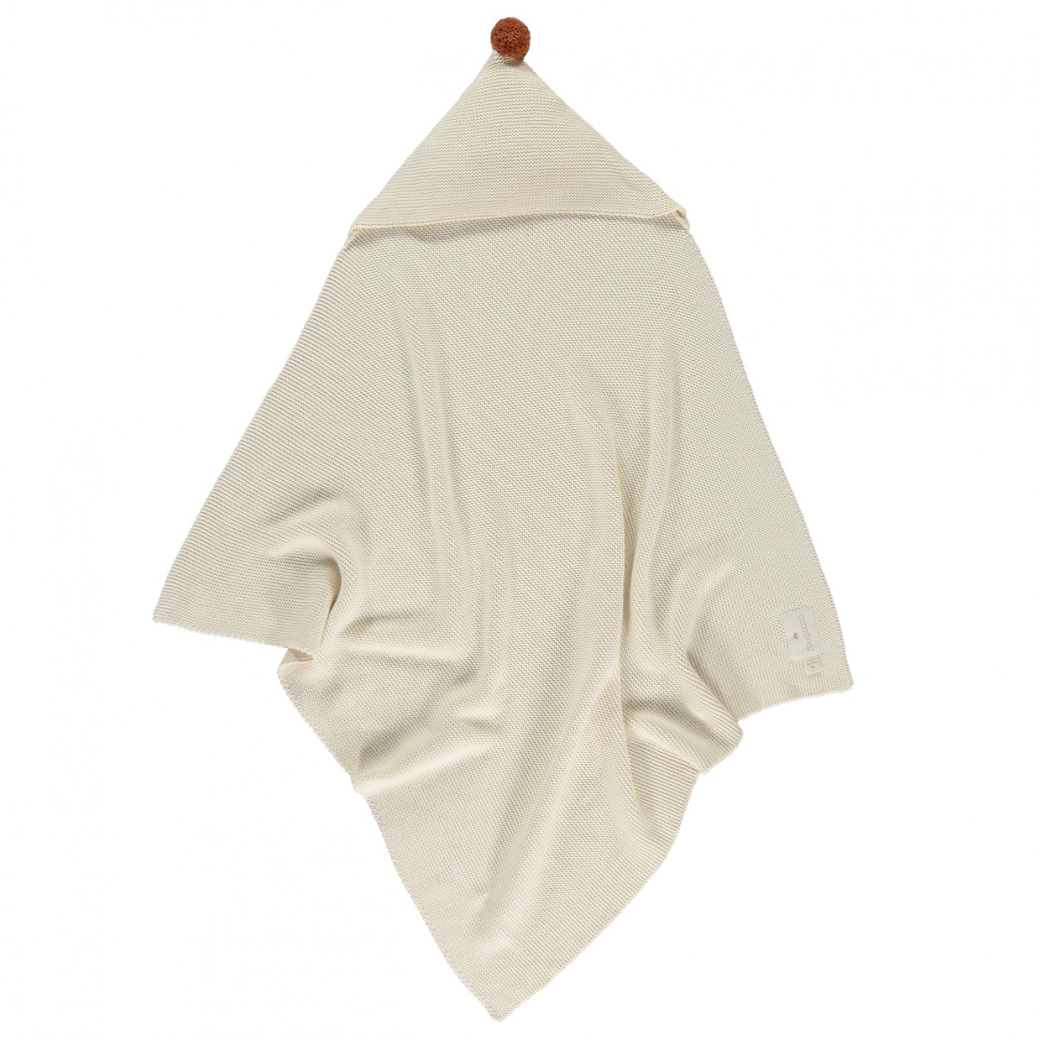 So Natural knitted baby cape • Natural